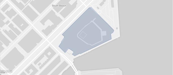 Oracle Park geoJSON Polygon