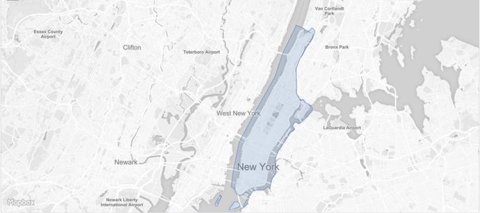 Manhattan Borough NYC Polygon
